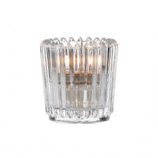 Votive - Ribbed Clear